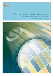 JISC Effective Practice with e-Assessment - Direct Learn Online ...