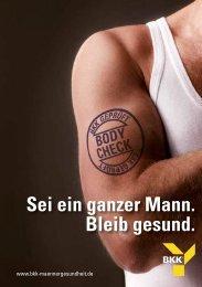 Download Broschüre Männergesundheit - bkk-maennergesundheit