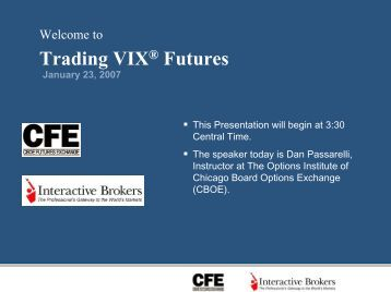Trading VIX Futures - Interactive Brokers