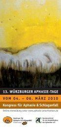 13. würzburger aphasie-tage vom 04. - Aphasiker-Zentrum ...