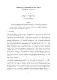 Exponentials of Symmetric Matrices through Tridiagonal Reductions ...