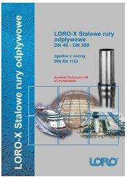LORO-X Stalowe rury odpływowe