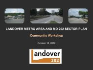 LANDOVER METRO AREA AND MD 202 SECTOR PLAN ...
