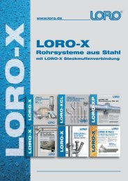 LORO-X Stahlabflussrohre und Formstücke DN 32