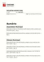 BM Abril 2012 - Câmara Municipal de Cascais