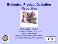 PITT Biological Product Deviation Reporting