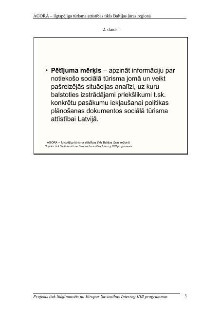 Pētījuma prezentācija - Vidzemes Augstskola