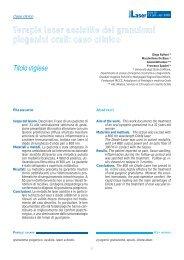 Terapie laser assistite dei granulomi piogenici orali ... - doctor smile
