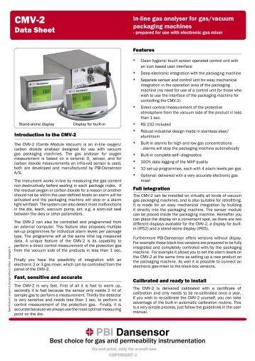 PBI Dansensor CMV-2 - Brave Engineering Ltd.