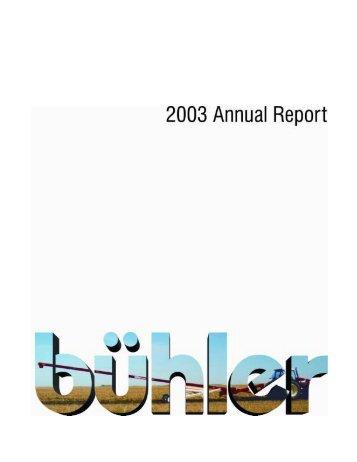 Annual Report - Buhler Industries Inc.