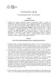 V Ý P Ů J Č N Í Ř Á D - Česká geologická služba
