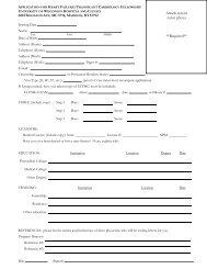 APPLICATION FOR FELLOWSHIP