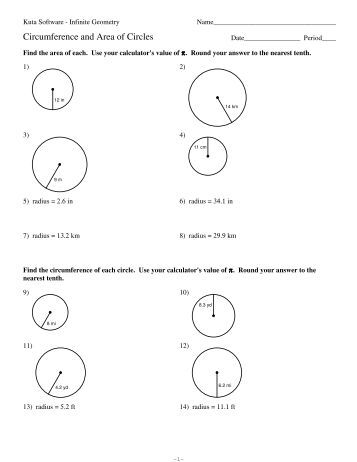 All Worksheets » Circumference And Area Of A Circle Worksheets  Printable Worksheets Guide for
