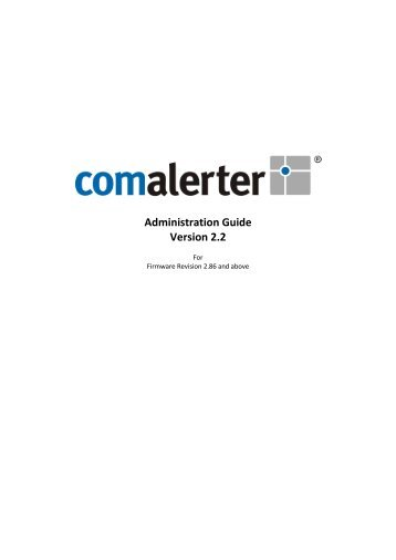 Comalerter Administration Guide - Sigma Wireless