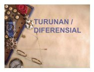 TURUNAN / DIFERENSIAL