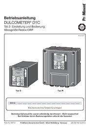 DULCOMETER® D1C - Teil 2: Messgröße Redox/ORP