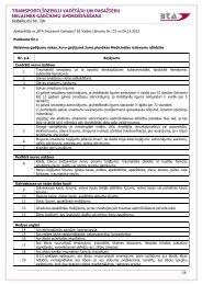 Noteikumu Nr.8a Pielikums Nr.1 - BTA