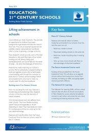 EDUCATION: 21st CENTURY SCHOOLS