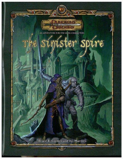 Adventure - Sinister Spire pdf - Lski org