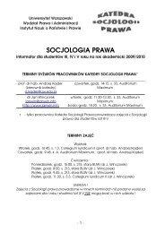 Informator dla studentów III-V roku - Wydział Prawa i Administracji ...