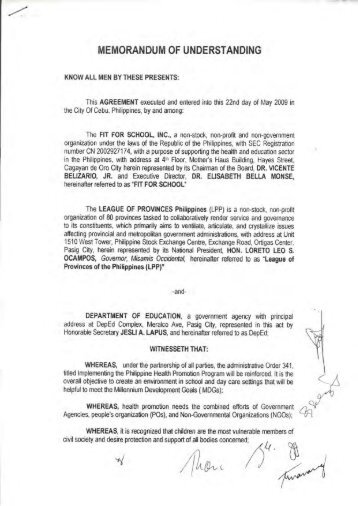 International Memorandum Of Understanding Student Agreement