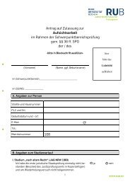 Antrag auf Zulassung zur Aufsichtsarbeit - Juristische Fakultät