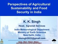 Perspectives of Agricultural Sustainability and Food Security in India