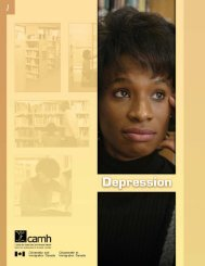 Depression - CAMH Knowledge Exchange - Centre for Addiction ...