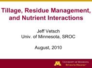 Tillage, Residue Management, and Nutrient Interactions