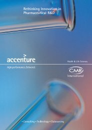 Rethinking Innovation in Pharmaceutical R&D - Accenture