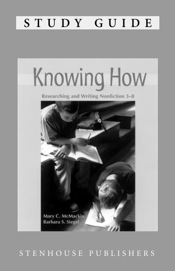 Knowing How - Stenhouse Publishers