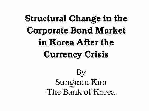 Korean Country Experience - World Bank