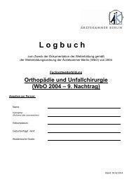 Logbuch FA Orthopädie und Unfallchirurgie [PDF] - Ärztekammer ...