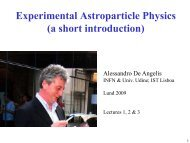 Experimental Astroparticle Physics, part 1