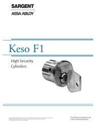 Keso F1 - Sargent Locks