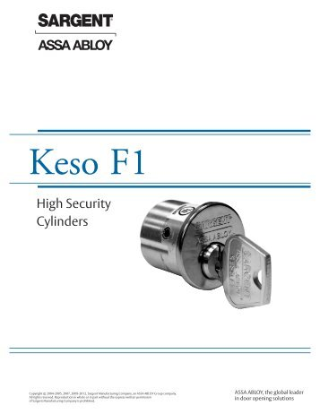 Keso F1 - Sargent Locks
