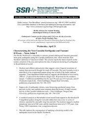 Wednesday, April 21 Characterizing the Next Cascadia Earthquake ...