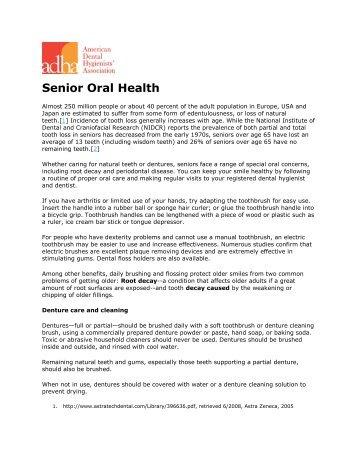 Senior Oral Health