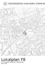 F08 Lokalplan for et område til et posthus i Fredensborg
