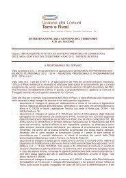 Determina n 20/2012 - Unione Terre e Fiumi