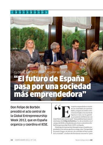 """""""El futuro de España pasa por una sociedad más ... - revista iese."""