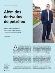 Além dos derivados de petróleo - Revista Pesquisa FAPESP