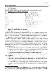 Antrag auf Finanzierung einer Klinischen Studie (Sachbeihilfe)