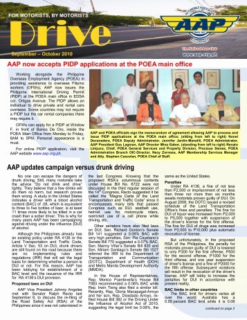AAP Now Accepts PIDP Applications At The POEA - Automobile ...