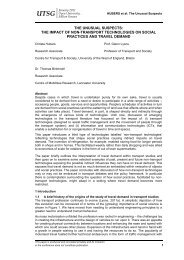 UTSG Paper Template - University of the West of England
