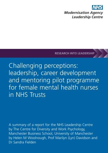 Challenging perceptions: leadership, career development and ...