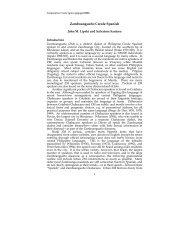 Zamboangueńo Creole Spanish - About the Philippines