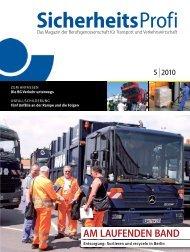 SicherheitsProfi 5/2010 - Berufsgenossenschaft für Transport und ...