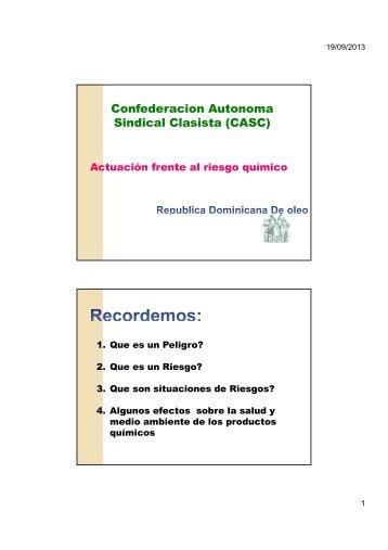 Confederacion Autonoma Sindical Clasista (CASC) - Sustainlabour