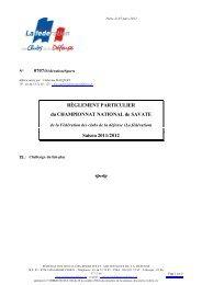 Saison 2011/2012 - La fédération des Clubs de la Défense
